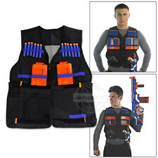 UK Top Tactical Vest For 12 Darts and 4 Ammo Clips In Nerf Elite N Strike Games