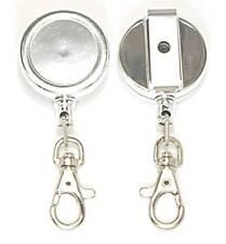 Retractable Key Reel inc Belt Clip & Stainless Steel Cord & Snap Hook