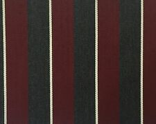Maroon, Grey & White Blazer Boating Stripe Fabric Made In England 2.5 Meters
