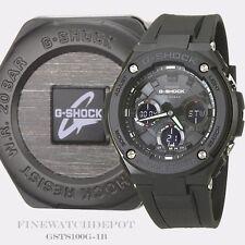Authentic Casio G-Shock Men's G-Steel Black Ana-Digital Watch GSTS100G-1B