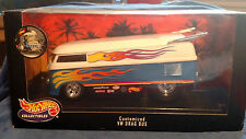 Hot Wheels VW Drag Bus Collectibles Customized  1:18 Flames Volkswagen