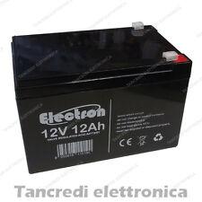 Batteria ricaribaile per bici elettriche al Piombo 12V Volt 12Ah 6DZM-10 CICLICA
