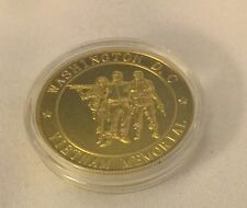 VIETNAM WAR MEMORIAL CHALLENGE COIN in Clear Box Patriot  MILITARY