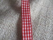 fabric gingham ribbon woven edge various colours/lengths sewing crafting cards