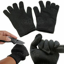 Black Stainless Steel Wire Safety Works Anti-Slash Cut Resistance Gloves New