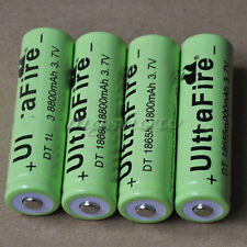 New 4pcs 18650 8800 3.7V Rechargeable Li-ion Battery for LED Flashlight Torch