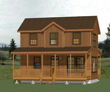 28x16 Tiny House -- 2 Bedroom 1.5 Bath -- 821 sqft  -- PDF FloorPlan -- Model 1B