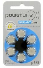 PowerOne 675 Cochlear Implant Batteries (60)