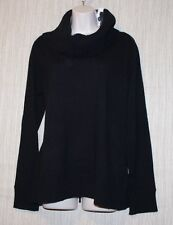NWT LORD  & TAYLOR 2 PLY CASHMERE BLACK COWL NECK WOMEN SWEATER SIZE:XL