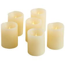 VonHaus Blow Out Flameless LED Battery Tea Light Real Wax Candles Set of 6