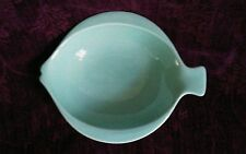 Royal Copenhagen Fish Shaped Aqua Fajance Dish Bowl 605 - FREE U.S. SHIPPING