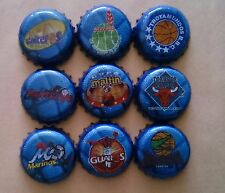 BASQUETBALL Logos LPB RARE Beer 9 Bottle Caps Tappi Kronkorken Crown Coronas NBA