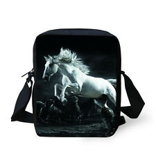 Cool Black Shoulder Bag Horse Horse Messenger Bags Casual Satchel Women Handbag