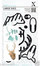 8 piece die set stags STAG HEAD Use Xcut, sizzix big shot, or most machines