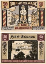 Germany 50 Pfennig 1921 Notgeld Bad Salzungen UNC Uncirculated Banknote