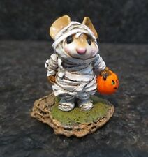 Wee Forest Folk WFF The Mummy M - 94 M94 Collectible Mouse Figurine Halloween