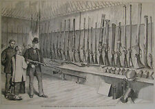 CENTENNIAL EXHIBITION ARMS OF ALL NATIONS RIFLES & GUNS HARPER'S WEEKLY 1876