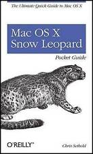 Very Good, Mac OS X Snow Leopard Pocket Guide, Chris Seibold, Book