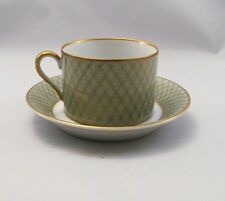 Fitz and Floyd Imperial Dynasty Mint Green Cup & Saucer (s) Mint Condition