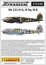 Xtradecal 1:72 Heinkel He 111H-5/H-5y/H-6 *10 markings*