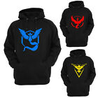 Pokemon Go Team Valor Mystic Instinct Long Sleeve Hoodie Hooded Sweater Tops