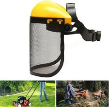 Mesh Chainsaw Safety Helmet Logging Brushcutter Forestry Face Shield Hat New
