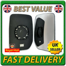 Right Driver Side Heated Wing Door Mirror Glass for FORD TRANSIT 2000-2012