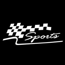 Garland Decorated Sport Race Flag Car Truck Auto Wall Home Vinyl Decal Sticker