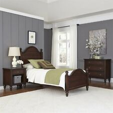 Home Styles Country Comfort Twin Bed 3 Piece Bedroom Set in Bourbon