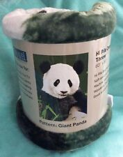 Shavel PANDA BEAR �� Over-sized Throw Blanket Very Soft  QUICK FREE SHIPPING
