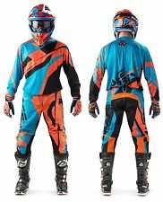 MAGLIA PANTALONI CROSS ENDURO ACERBIS MX PROFILE '17 ARANCIO BLU ORANGE TG 36 XL