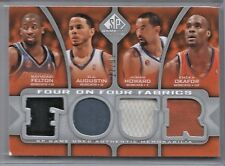 2009-10 SP Game Used Basketball Bobcats-Heat Four On Four Jersey Card # 77/99