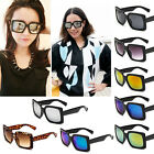 alla moda retrò Occhiali Da Sole Quadrati Riflettente occhiali Unisex Carico EW