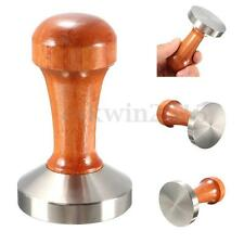 Stainless Steel Press Powder Coffee Tamper Tool Accessory With Wood Handle 53mm