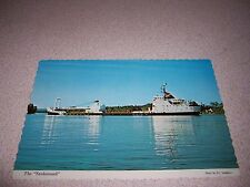 1960s THE YANKCANUCK GREAT LAKES FREIGHTER CRANE SHIP VTG POSTCARD