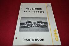 Gehl 4635 4835 Skid Steer Loader Dealer's Parts Book BVPA