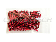 "New MTB Road BMX Bike 7075 Alloy Spoke Nipples 2.0mm 14G 5/8"" 100 Pcs Red"