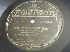 JOSEPH SAMUELS & LARRY BRIERS 78 Witch Of Waves / Miss Johnson's Party 1920