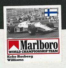 ORIGINAL MARLBORO WILLIAMS FW08 F1 TEAM KEKE ROSBERG 1982 PERIOD STICKER ADESIVO