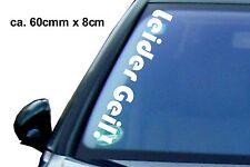 1x Leider Geil Aufkleber 60x8 cm Auto Tuning Sticker Shocker FUN vw Autotatto