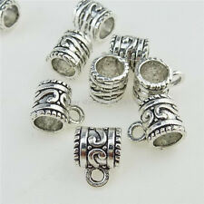 12906 45PC Alloy Vinatge Silver Totem Loop Bail Bead Fit Bracelet Necklace Charm