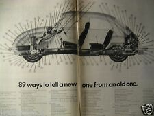 1971 Volkswagen Beetle Bug Original Print Ad-89 Ways You Can Tell New-2 page