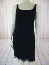 Emanuel Ungaro Black Slip Dress 4/38 Sleeveless Triacetate Poly Blend Sheath LBD