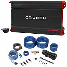 Crunch PZX1500.1 1500 Watt Mono Class A/B Car Audio Amplifier+Amp Wire Kit