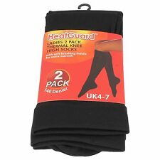 Ladies Heat Guard 2 Pack Thermal Knee High Socks SK189