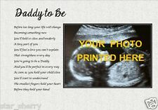 DADDY TO BE - PersonalisedPoem (Laminated Gift) ***YOUR PHOTO PRINTED***