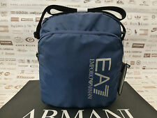 EMPORIO ARMANI Pouch Body Bag S2000 TRAIN PRIME U Large Blue Shoulder Bags BNWT