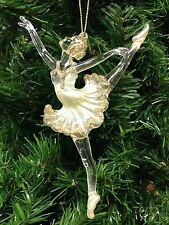 KURT ADLER CLEAR ACRYLIC PEARL SUGAR PLUM FAIRY NUTCRACKER BALLET XMAS ORNAMENT