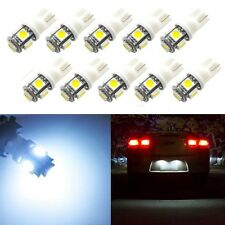 5x 5-SMD LED White License Plate Lights Tag Bulbs T10 158 168 194 2825 3652 W5W