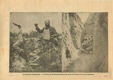 WWI Poilus Lanceurs de Grenades Boyau Tranchées Deutsches Heer 1915 ILLUSTRATION